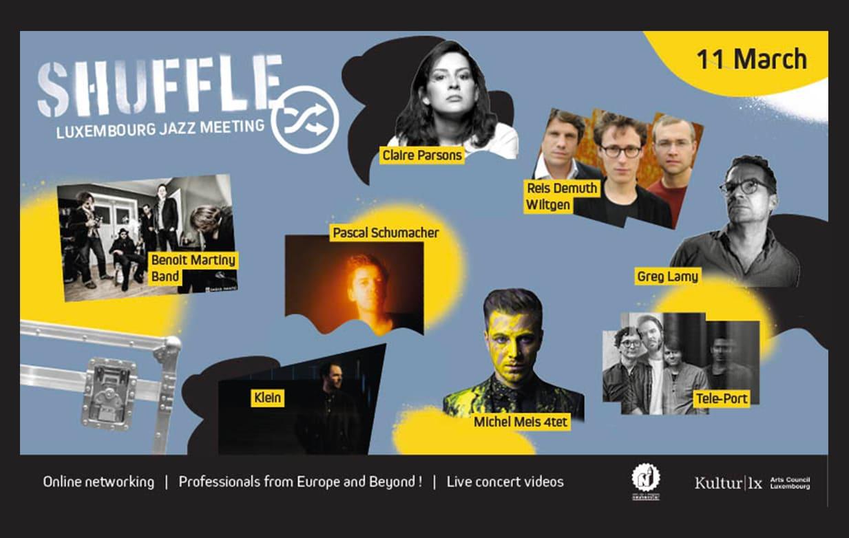 Succès pour SHUFFLE - Luxembourg Jazz Meeting 2021 en ligne !