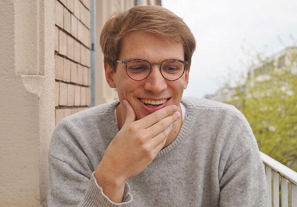 Samuel Hamen, author in residence at the Literarisches Colloquium Berlin