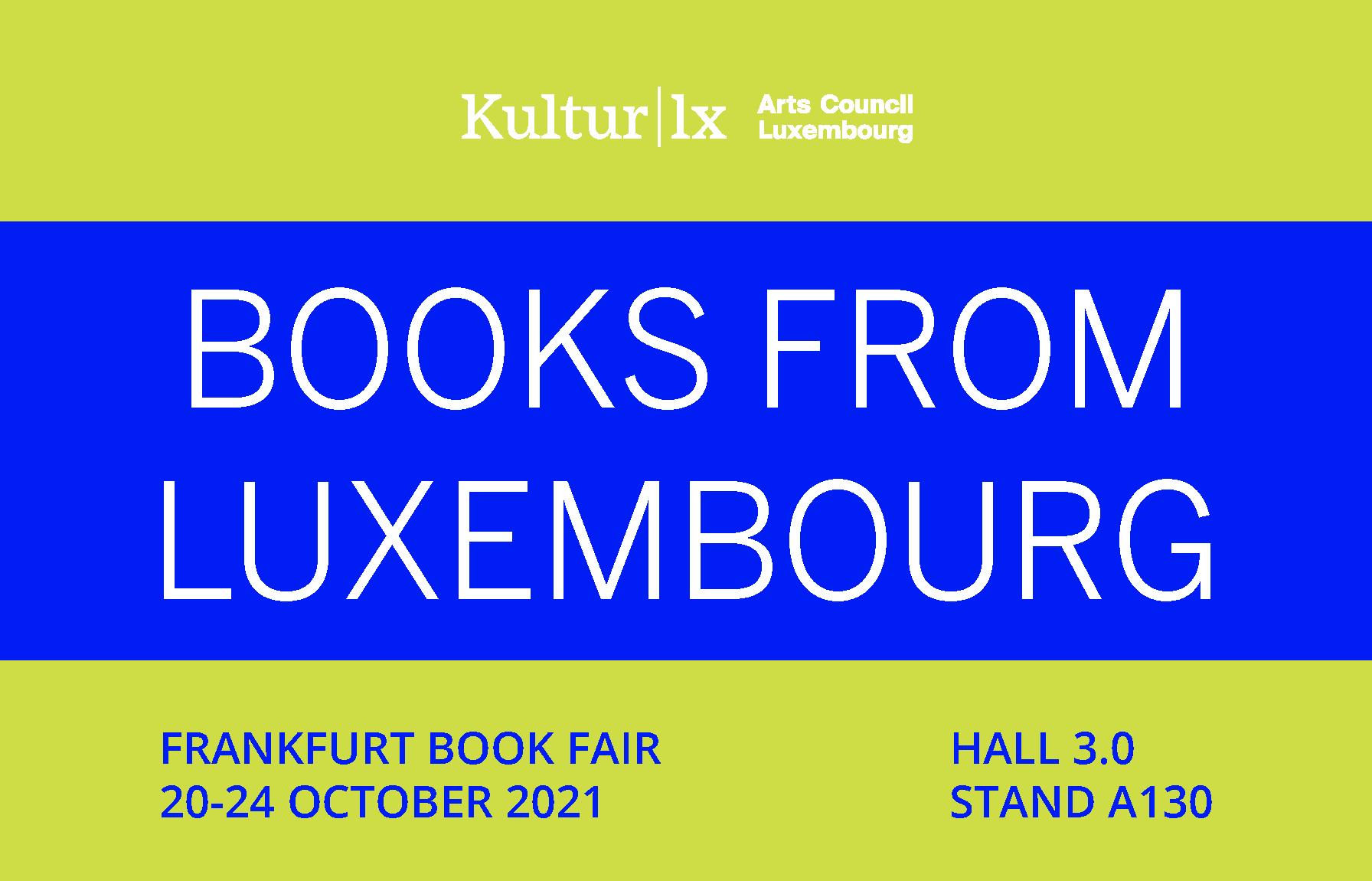 Books from Luxembourg - Foire du livre de Francfort